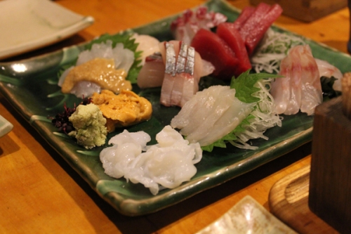 Sashimi at Izakaya